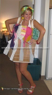 Homemade Laundry Basket Halloween Costume