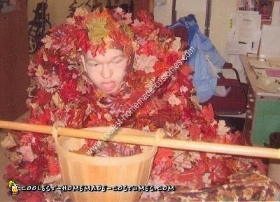 Coolest Homemade Leaf Pile Wheelchair Costume