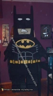 Homemade Lego Batman Halloween Costume