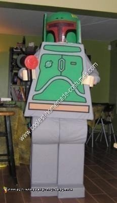 Homemade Lego Boba Fett Halloween Costume