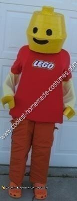 Homemade Lego Boy Unique Halloween Costume Idea