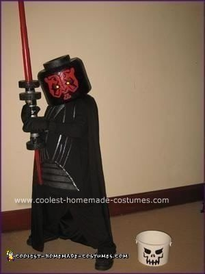 Homemade Lego Darth Maul Minifig Costume