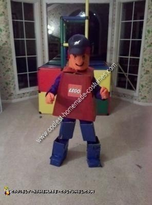 Homemade Lego Dude Costume