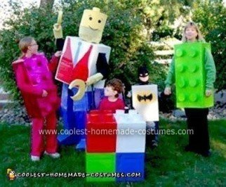 Homemade Lego Family Halloween Costume