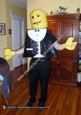 Homemade Lego Guy Costume