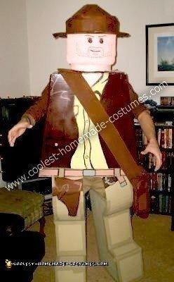 Homemade LEGO Indiana Jones Costume