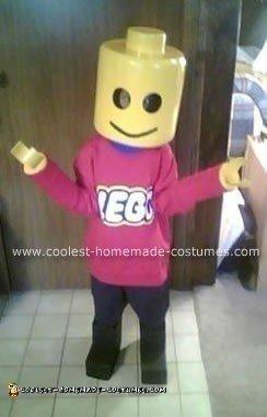 Homemade Lego Man Halloween Costume