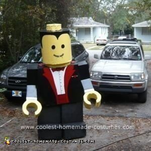 Homemade Lego Man Halloween Costume 16