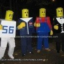 Homemade Lego Men Group Costume