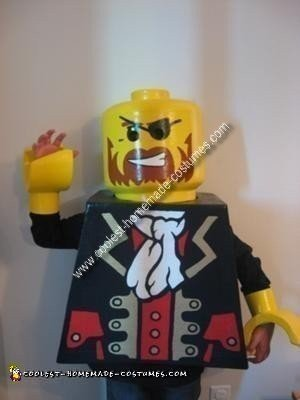 Homemade Lego Minifig Pirate Costume