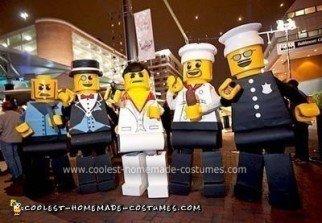 Homemade Lego Minifigures Group Costume