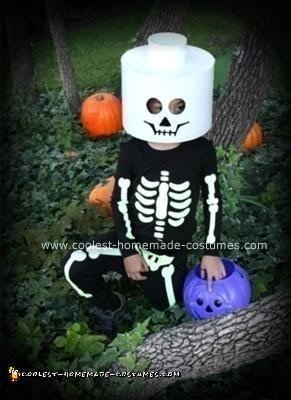 Homemade Lego Skeleton Children's Costume