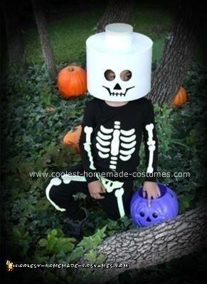 Homemade Lego Skeleton Children's Costume