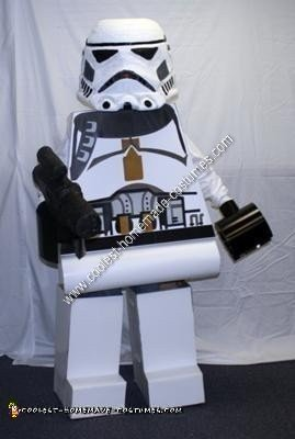 Homemade Lego Star Wars Storm Trooper Costume