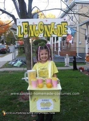 Homemade Lemonade Stand Costume