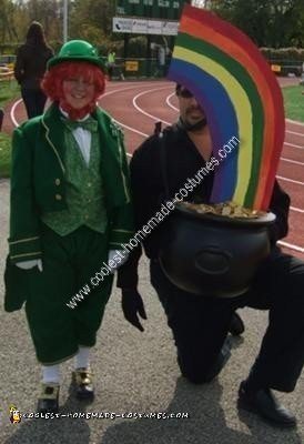 Homemade Leprechaun and Pot of Gold Couple Costume