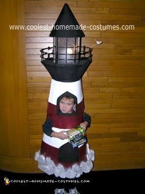 Homemade Lighthouse Costume