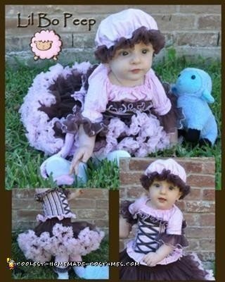 Homemade Lil Bo Peep Costume