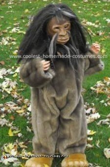 Homemade Little Bigfoot Costume