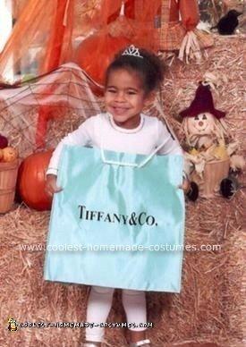 Homemade Little Blue Shopping Bag Costume