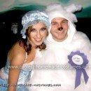 Homemade Little Bo Peep and Her Sheep Couple Costume