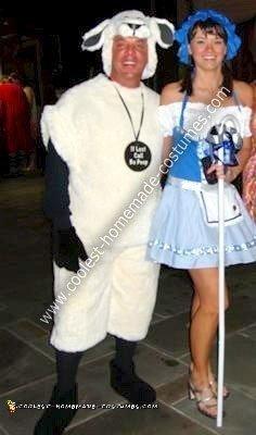 Homemade Little Bo Peep & Sheep Costume