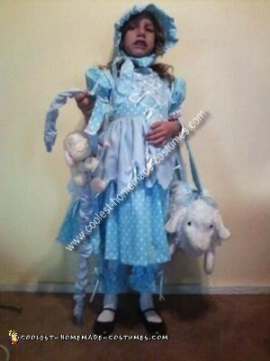 Homemade Little Bo Peep Girl Costume