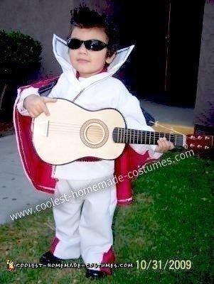 Homemade Little Elvis Halloween Costume