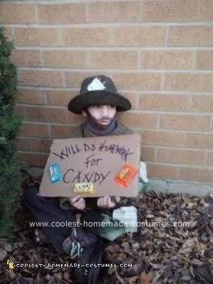 Homemade Little Hobo Child Halloween Costume