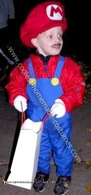 Homemade Little Mario Costume