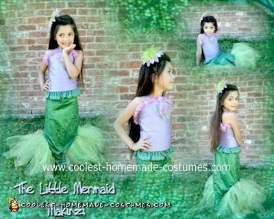 Homemade Little Mermaid Costume