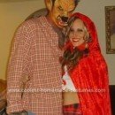 Homemade Little Red Riding Hood and The Big Bad Wolf Couple Costume