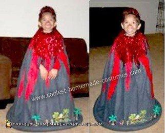 Homemade Little Volcano Costume