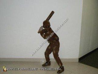 Homemade Living Baseball Statue Halloween Costume Idea