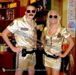 Homemade Lt. Dangle and Deputy Johnson Couple Costume