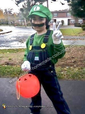 Homemade Luigi Halloween Costume