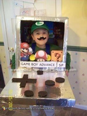 Homemade Luigi Inside the Game Boy Costume