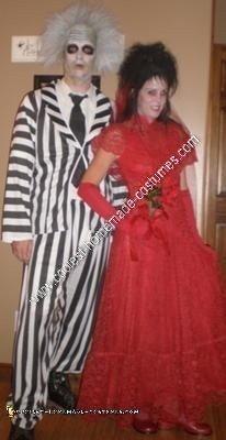 Homemade Lydia Deetz Hallowen Costume