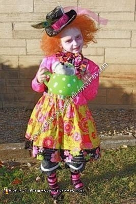 Homemade Mad Hatter Child Halloween Costume