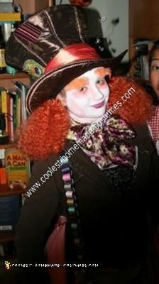 Homemade Mad Hatter Unique Halloween Costume Idea