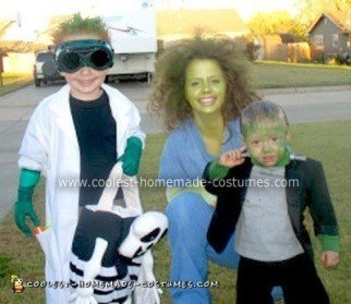 Homemade Mad Scientist and His Creations Costume