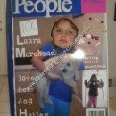 Front Cover of Homemade Magazine Cover Halloween Costume Idea