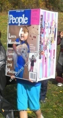 Side Pages of Homemade Magazine Cover Halloween Costume Idea