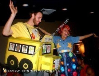 Homemade Magic School Bus and Ms Frizzle Couple Costume