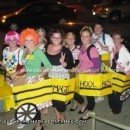Homemade Magic School Bus Group Halloween Costume