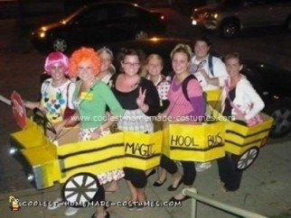 Homemade Magic School Bus Group Halloween Costume