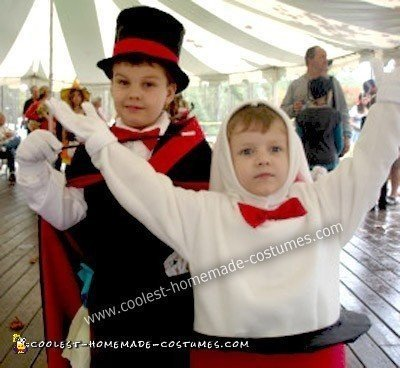 Homemade Magician and Rabbit in Hat Costume