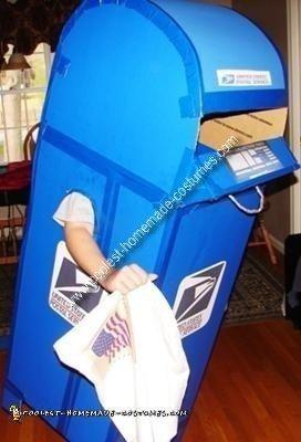 Homemade Mailbox Costume