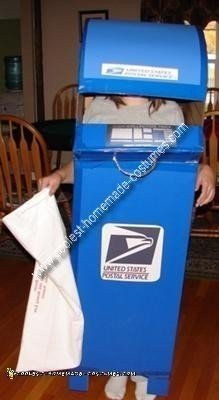 Homemade Mailbox Costume