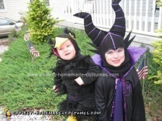 Homemade Maleficent and her Crow Costumes